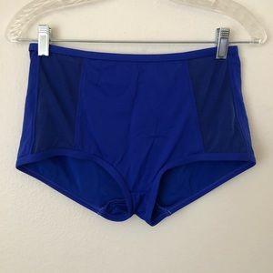 Vitamin A High Waist Blue Mesh Bikini Bottoms